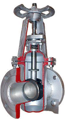 Задвижка клиновая литая двухдисковая с выдвижным шпинделем, брак