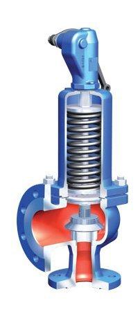 Клапан предохранительный стальной прежинный DN50 PN40 17с23нж (Класс А, КРЫШКА ГЛ, Рн.о.=30, Пружина
