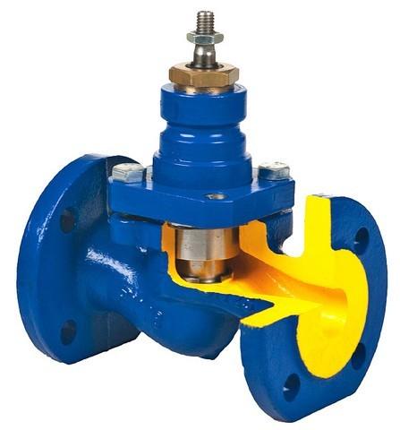 Клапан регулирующий двухседельный, ку-25, под электропривод
